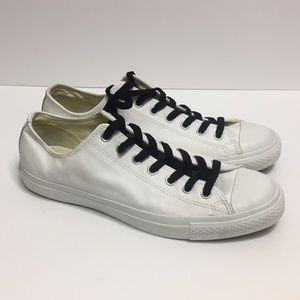 Converse White Leather Men's Sneakers. Size 12